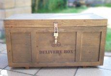 画像4: 【宅配ボックス】ビンテージ感たっぷりおしゃれな木製宅配BOX(宅急便収納箱・受け) (4)