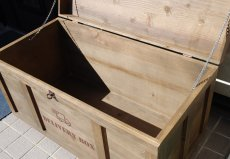 画像13: 【宅配ボックス】ビンテージ感たっぷりおしゃれな木製宅配BOX(宅急便収納箱・受け) (13)