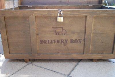 画像3: 【宅配ボックス】ビンテージ感たっぷりおしゃれな木製宅配BOX(宅急便収納箱・受け)