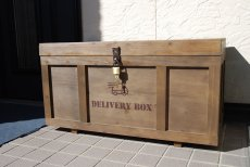 画像12: 【宅配ボックス】ビンテージ感たっぷりおしゃれな木製宅配BOX(宅急便収納箱・受け) (12)