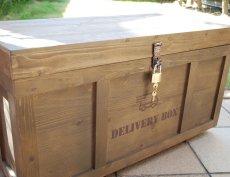 画像8: 【宅配ボックス】ビンテージ感たっぷりおしゃれな木製宅配BOX(宅急便収納箱・受け) (8)