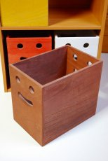画像8: 【桐製にこにこカラーボックス】市販のカラーボックスにピッタシ! カラフルな桐製収納箱 木製シェルフ ストレージボックス おしゃれな木の雑貨 [CB200] (8)