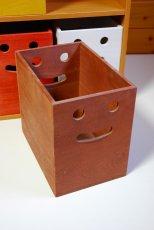 画像7: 【桐製にこにこカラーボックス】市販のカラーボックスにピッタシ! カラフルな桐製収納箱 木製シェルフ ストレージボックス おしゃれな木の雑貨 [CB200] (7)