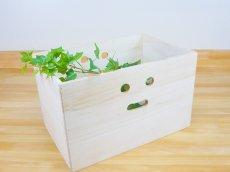 画像9: 【にこにこボックス収納箱】桐製 手穴つきボックス収納箱 木製シェルフ ストレージボックス おしゃれな木の雑貨 (9)