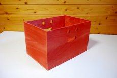 画像11: 【桐製にこにこカラーボックス】市販のカラーボックスにピッタシ! カラフルな桐製収納箱 木製シェルフ ストレージボックス おしゃれな木の雑貨 [CB200] (11)