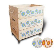 画像13: 【3段セット】【ばら売り可】【ワインボックス】 レトロ花柄のおもちゃ箱、収納箱 (13)