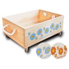 画像5: 【3段セット】【ばら売り可】【ワインボックス】 レトロ花柄のおもちゃ箱、収納箱 (5)