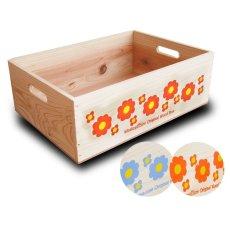 画像8: 【3段セット】【ばら売り可】【ワインボックス】 レトロ花柄のおもちゃ箱、収納箱 (8)
