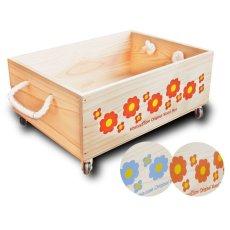 画像6: 【3段セット】【ばら売り可】【ワインボックス】 レトロ花柄のおもちゃ箱、収納箱 (6)