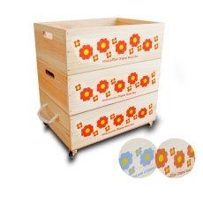 画像14: 【3段セット】【ばら売り可】【ワインボックス】 レトロ花柄のおもちゃ箱、収納箱 (14)