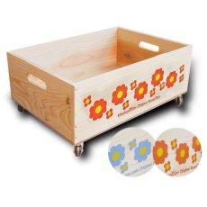 画像10: 【3段セット】【ばら売り可】【ワインボックス】 レトロ花柄のおもちゃ箱、収納箱 (10)