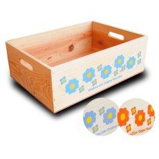 画像7: 【3段セット】【ばら売り可】【ワインボックス】 レトロ花柄のおもちゃ箱、収納箱 (7)