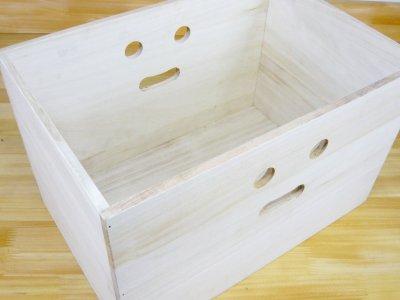 画像2: 【にこにこボックス収納箱】桐製 手穴つきボックス収納箱 木製シェルフ ストレージボックス おしゃれな木の雑貨