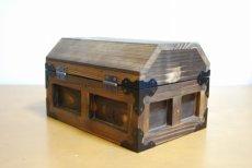 画像6: 【海賊宝箱】デラックス海賊箱(小)焼杉仕様 三方飾り金具仕上げ (6)