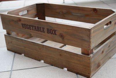 画像2: 【ベジタブルボックス:Lサイズ】丈夫でオシャレなベジタブル木箱 アンティーク調 キッチン収納、ガーデニングなどに大人気!