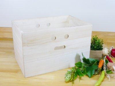 画像1: 【にこにこボックス収納箱】桐製 手穴つきボックス収納箱 木製シェルフ ストレージボックス おしゃれな木の雑貨