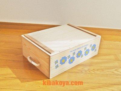 画像2: 【3段セット】【ばら売り可】【ワインボックス】 レトロ花柄のおもちゃ箱、収納箱