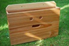画像3: 【木製ポスト】にこにこ♪ 木製ポスト横型 杉 壁掛け(郵便ポスト 郵便受け 新聞受け 回覧板受け メール便受け) (3)