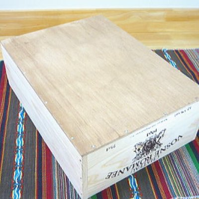 画像2: 【ワインボックス】シンプルワイン木箱(ボックス) インテリアに収納にお洒落木箱 オリジナルロゴ入り