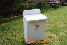 画像4: 【木製ポスト】職人手作り 白い 木製ポスト レトロなデザインが素敵!郵便受け レターボックス アンティーク ナチュラル エクステリア (4)