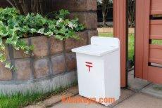 画像3: 【木製ポスト】職人手作り 白い 木製ポスト レトロなデザインが素敵!郵便受け レターボックス アンティーク ナチュラル エクステリア (3)