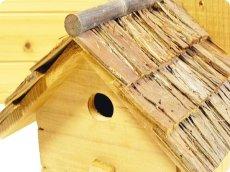 画像3: 【野鳥用巣箱】味のある職人手作り 杉皮屋根巣箱(完成品) (3)