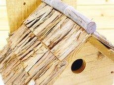 画像4: 【野鳥用巣箱】味のある職人手作り 杉皮屋根巣箱(完成品) (4)