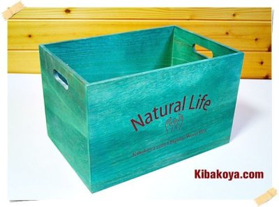 画像3: 天然木 桐製【ナチュラルボックス収納箱(Natural Life)】カラーボックス インナーボックス オリジナルロゴ入り ストレージボックス シェルフ
