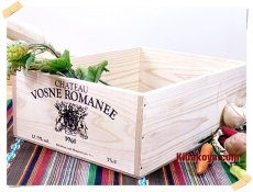 画像5: 【ワインボックス】シンプルワイン木箱(ボックス)インテリア,収納にお洒落な木箱 オリジナルロゴ(VOSNE ROMANEE) (5)