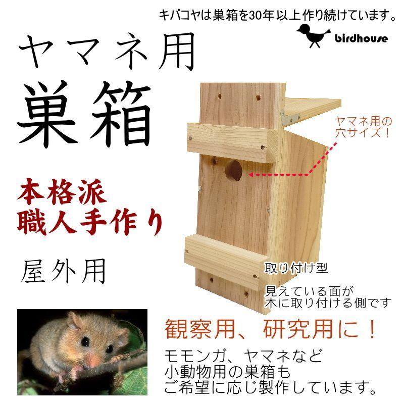画像1: 【ヤマネ巣箱】小動物(ヤマネ)用巣箱 B(上ふたタイプ)巣箱(縦型)(完成品) (1)